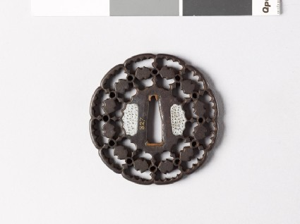 Tsuba with fundō weights and circlesfront