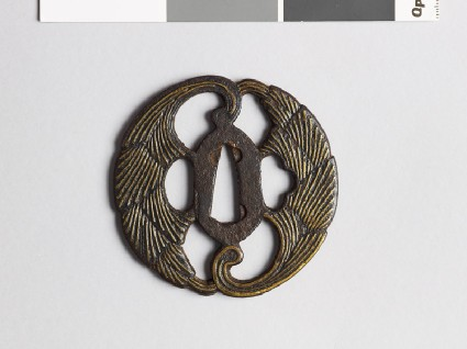 Tsuba with myōga, or ginger shootsfront