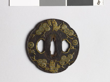 Mokkō-shaped tsuba with pine treefront