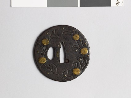 Tsuba with chrysanthemumsfront