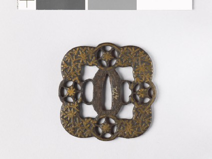 Tsuba with foliated stems and star shapesfront