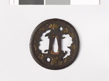 Tsuba with plants and animalsfront