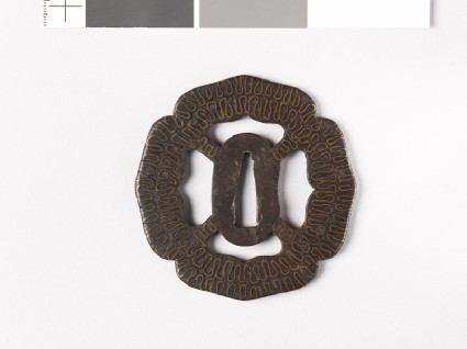 Tsuba with wave patternfront