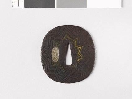 Tsuba with nine-pointed starfront