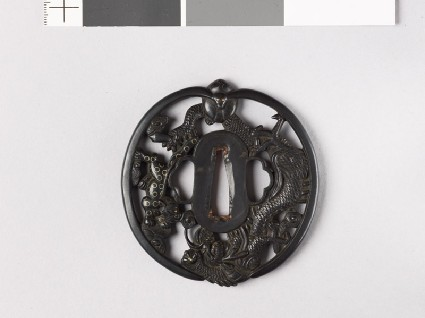 Tsuba with a hare, dragon, and tigerfront