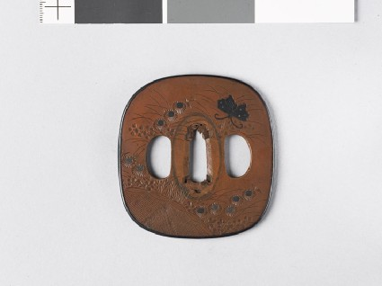Tsuba with autumn flowersfront