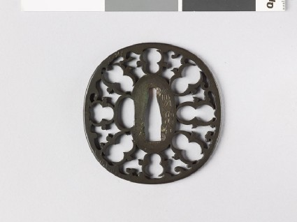 Tsuba with karigane, or flying geesefront