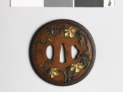 Tsuba with flowering vinefront