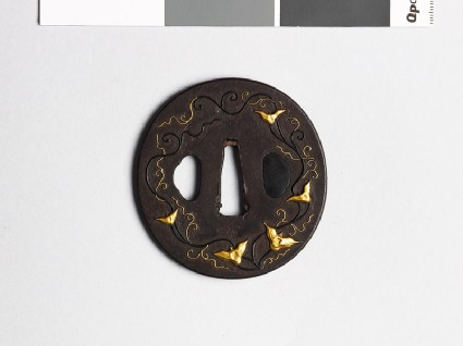Tsuba with trailing stems and seed podsfront