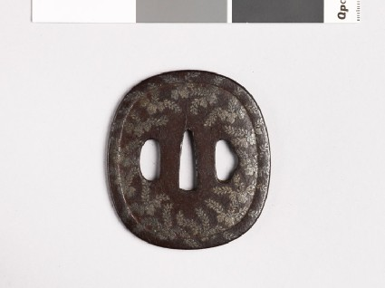 Tsuba with kiri, or paulownia, leavesfront