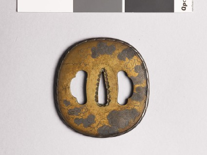 Tsuba with smilax tendrilsfront