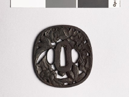 Tsuba with peoniesfront