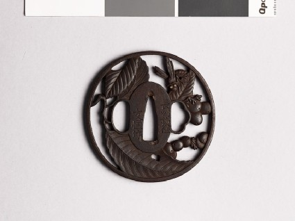 Tsuba with tree and hornetfront