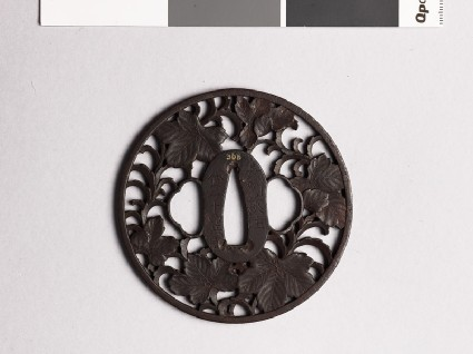Tsuba with leavesfront