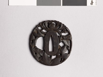Tsuba with chrysantheumumsfront