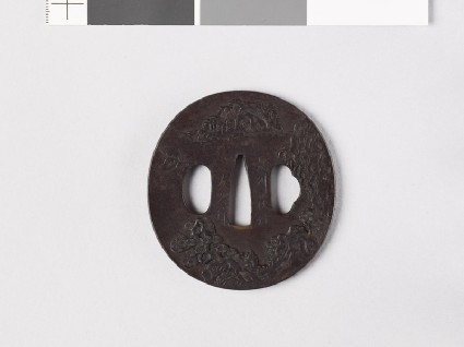 Tsuba with Chinese-style landscapesfront