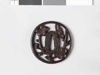 Tsuba with plum blossomsfront