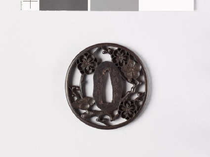 Tsuba with plum blossomfront