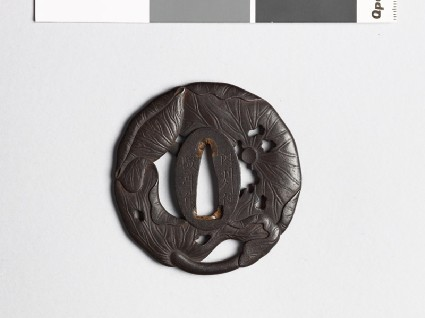 Tsuba in the form of three lotus leavesfront