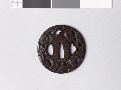 Tsuba with three peoniesfront