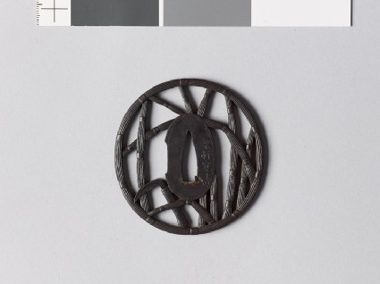 Tsuba with horsetail stems and a sicklefront