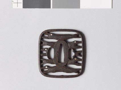 Tsuba with himono, or dried salmonfront