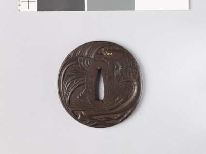 Tsuba with roosterfront