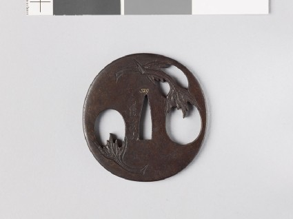 Tsuba with egg fruitsfront