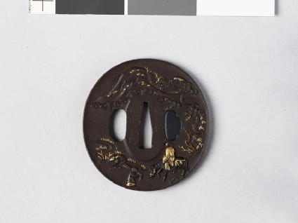 Tsuba with Chinese sage and figures in a landscapefront