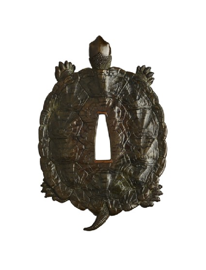 Tsuba in the form of a tortoisefront