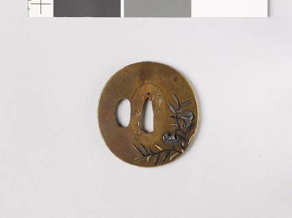 Tsuba with tiger lilyfront