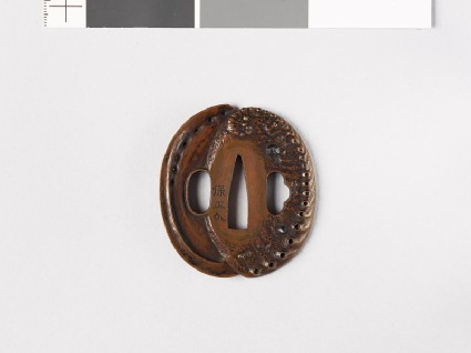 Tsuba in the form of awabi shells and limpetsfront