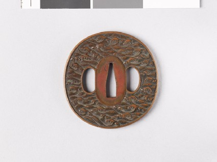 Tsuba with crested wavesfront