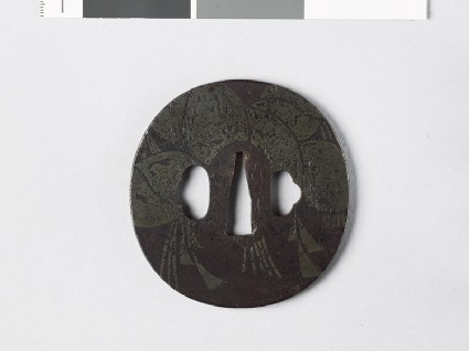 Tsuba with New Year straw rope and noshi, or auspicious abalonefront