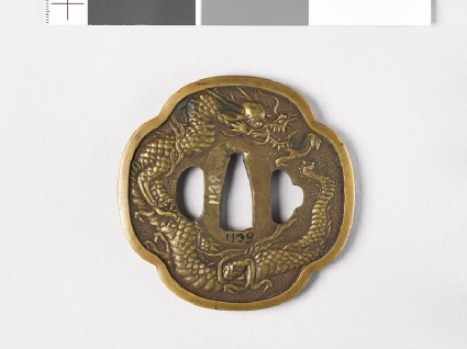 Tsuba with dragonfront