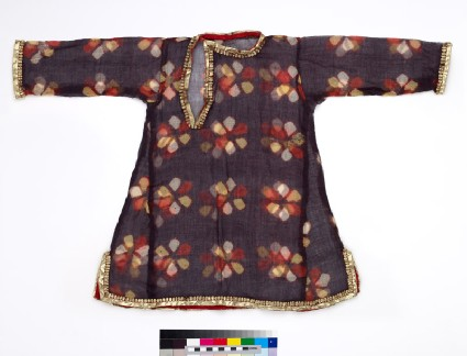 Child's tunic with flowersfront