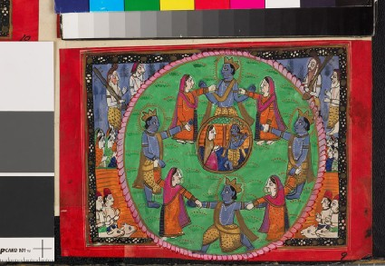 Deities linking hands in a circlefront