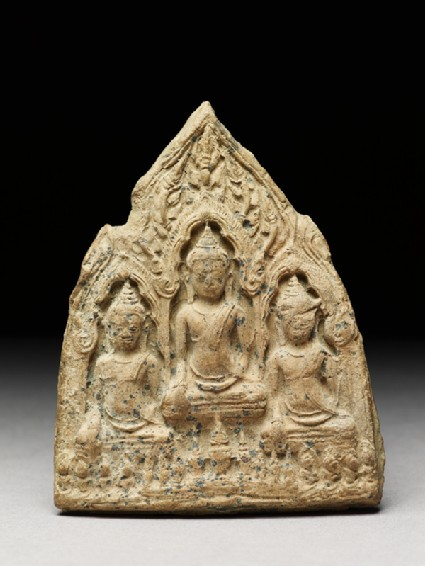 Votive plaque of the Buddha with attendant figuresfront