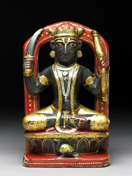 Soapstone figure of Rahu, an astrological figurefront