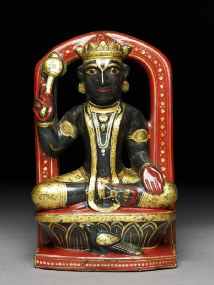 Soapstone figure of Ketu, an astrological figurefront