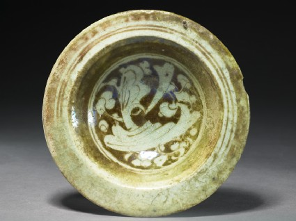 Dish with vegetal or epigraphic decorationtop