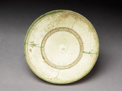 Bowl with incised and painted decorationtop