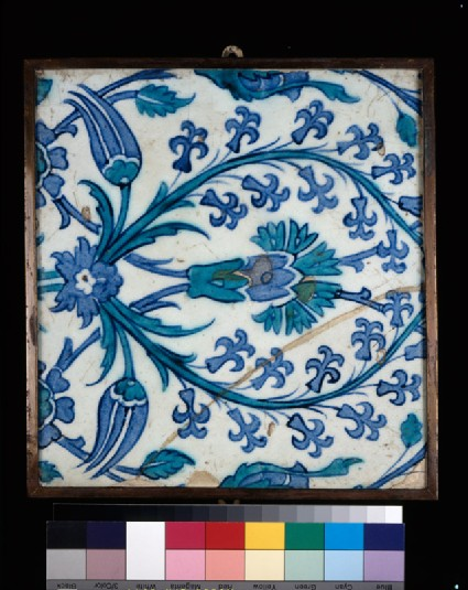 Tile with carnation, hyacinths, and tulipsfront