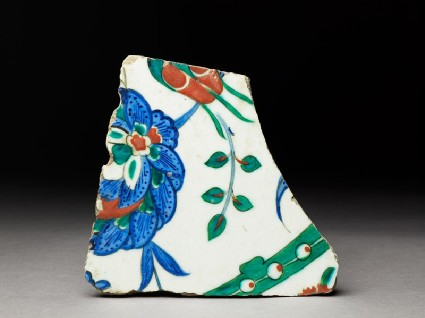 Tile fragment with peonytop