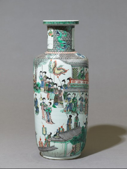 Vase with theatrical sceneside