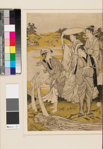 Women laundering at the Jewel River of Chōfufront