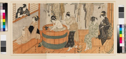 Women in a bath housefront