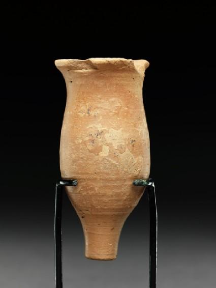 Small terracotta flaskside