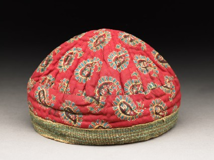 Boy's cap with buta patternoblique