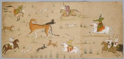 Maharaja Balwant Singh hunts a tigerfront